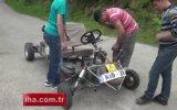 Mucit Öğrenciler Motosiklet Motorundan Araç Yaptılar