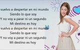 Violetta - Martina Stoessel - En Mi Mundo (Lyrics)