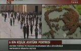 Anıtkabir'de 6 Bin Kişi'den Oluşan Dev Atatürk Portresi