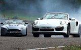 Porsche 911 Turbo S  -  Aston Martin V12 Vantage S Düellosu view on izlesene.com tube online.