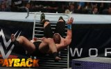 WWE Network: Rusev smashes U.S. Champion John Cena into a ring barricade: WWE Payback 2015